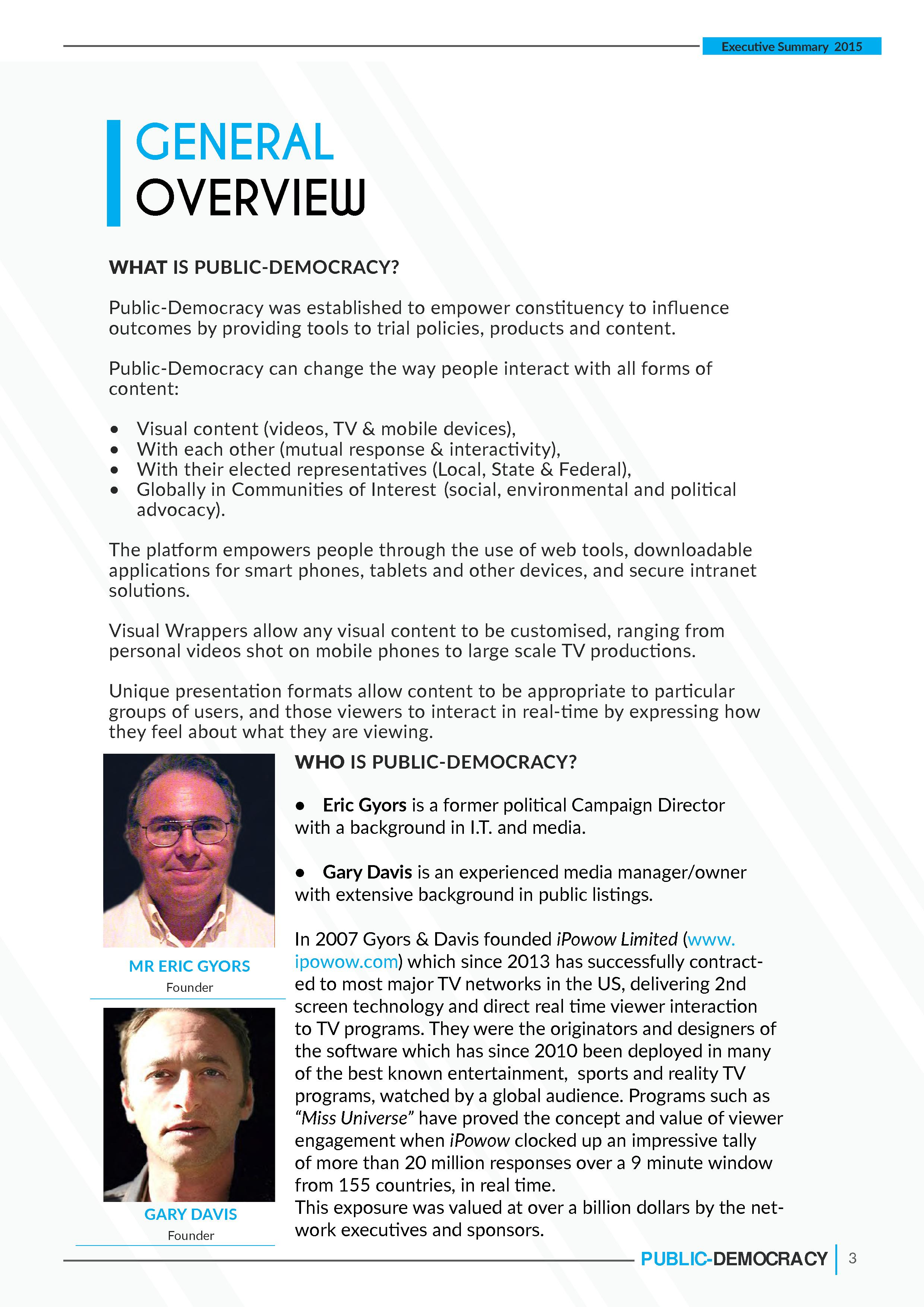 PD EXECUTIVE SUMMARY 2 003