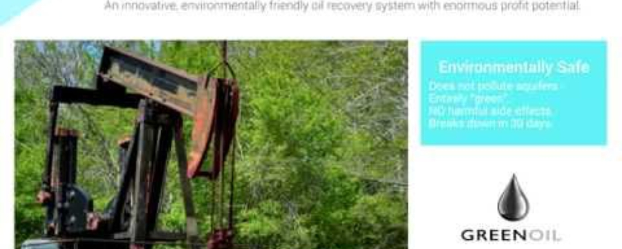 Enhanced Energy Recovery LTD - environmentally friendly technique for oil recovery. Overview